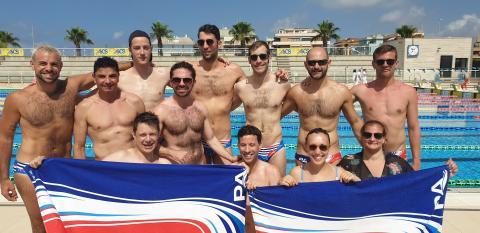 les nageurs et poloïstes de Paris Aquatique aux Eurogames 2019 de Rome